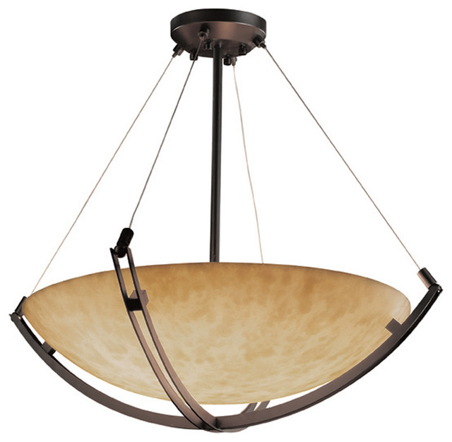 Ceiling Light Crossbar : Justice design cld quot pendant bowl with crossbar