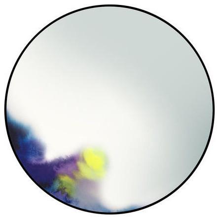 Francis Splash Wall Mirror, Blue, Large. -1