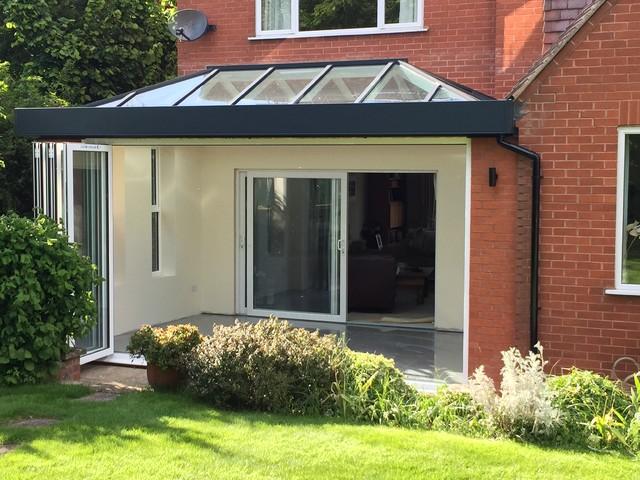eco roof lantern on flat roof home extension. Black Bedroom Furniture Sets. Home Design Ideas