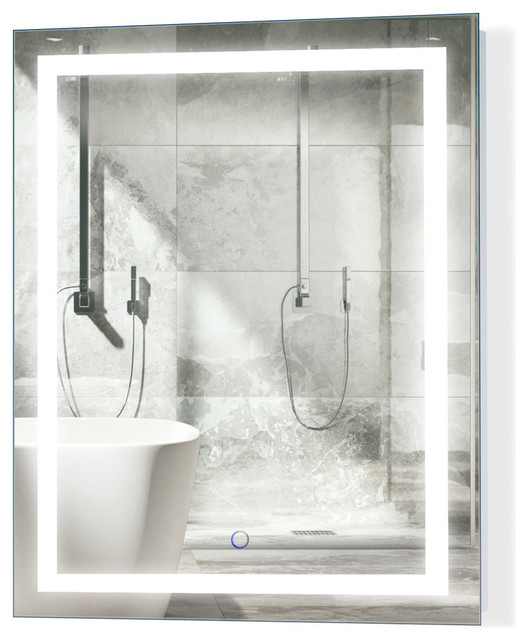 "LED Lighted Bathroom Mirror With Defogger and Dimmer, 24""x30"""