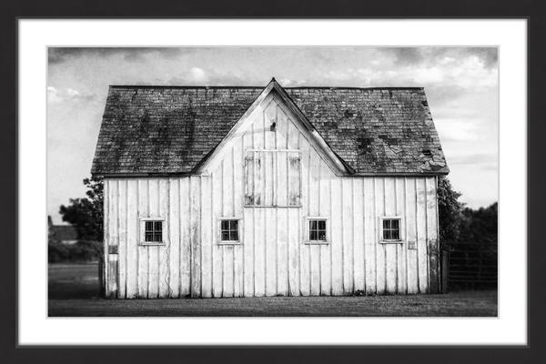 """grange Blanche"" Framed Painting Print, 30""x20""."