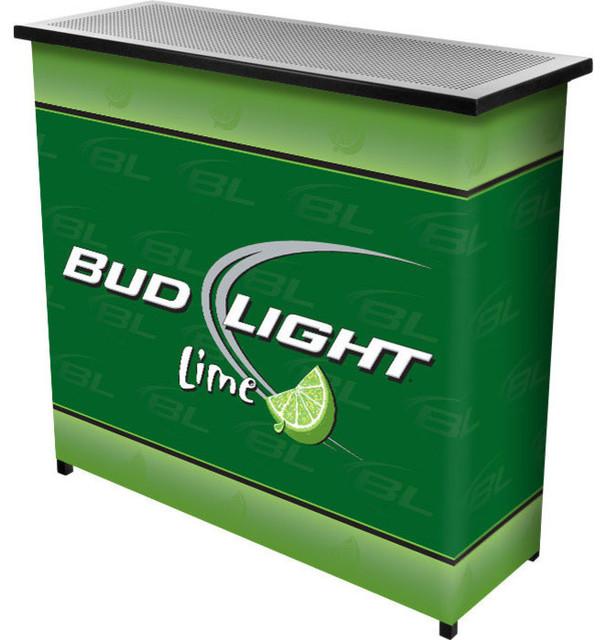 Bud Light Lime Metal 2 Shelf Portable Bar Table With Case