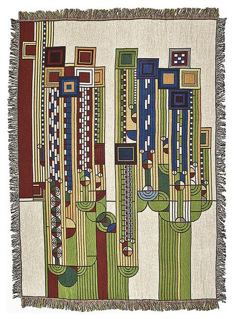 Frank Lloyd Wright Saguaro Tapestry Throw