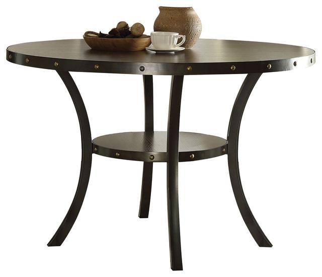 Hadas Dining Set, Walnut, Round Table