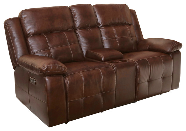 Conan Dual Power Recliner Loveseat W/ Console.