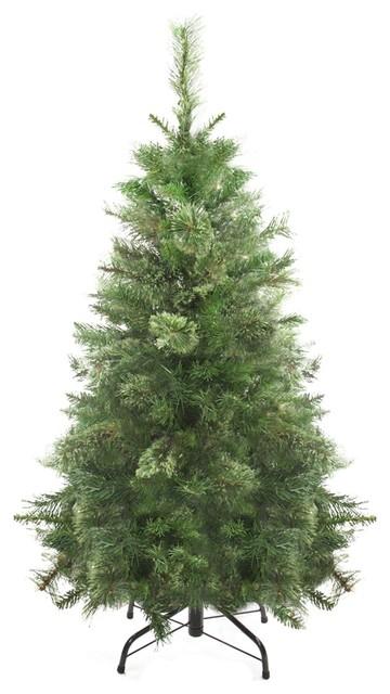 4' Mixed Cashmere Pine Medium Artificial Christmas Tree, Unlit