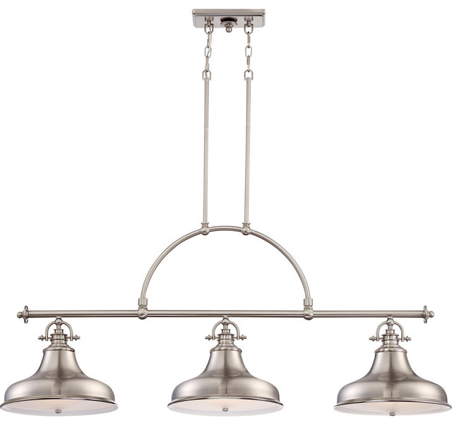 Quoizel Lighting Emery Island Chandelier In Brushed Nickel Finish  Traditional Chandeliers