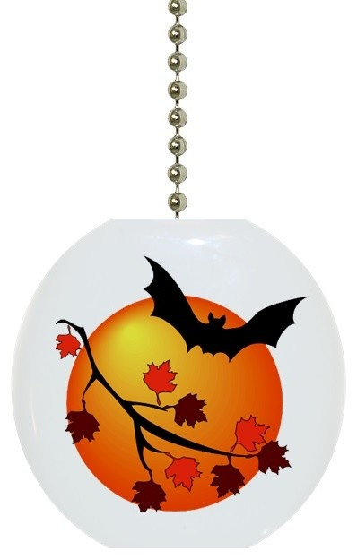 Bat And Fall Leaves Ceiling Fan Pull