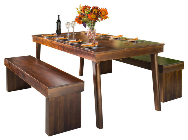 Outstanding Gdf Studio 3 Piece Salvador Mahogany Stained Wood Table And Bench Dining Set Gmtry Best Dining Table And Chair Ideas Images Gmtryco