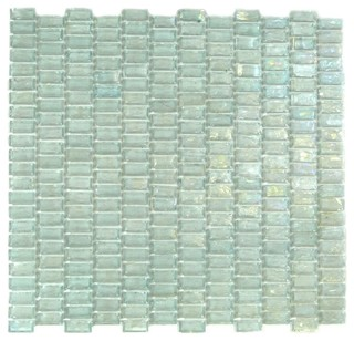 blue recycled glass mosaic tile wall backsplash mint