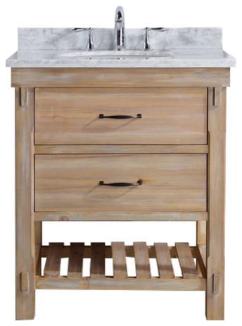"Marina 30"" Bathroom Vanity, Driftwood Finish"