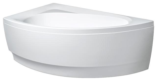 Aquatica Idea White Corner Acrylic Bathtub, Right