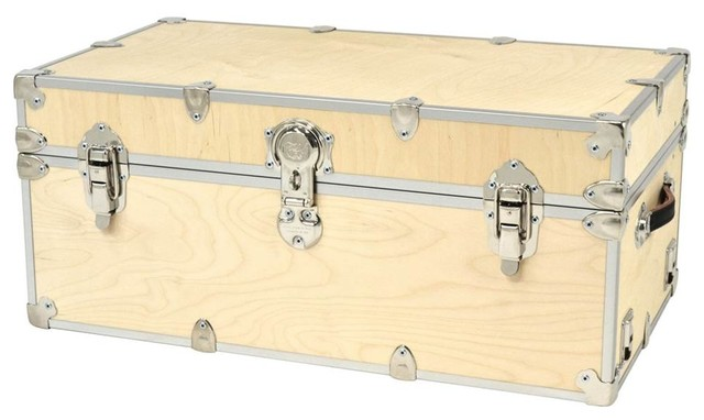 Artisans Domestic Heirloom Naked Birch Storage Box, Wood Trunk For Home Decor.