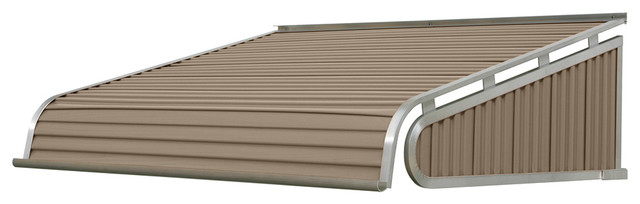 "1500 Series Aluminum Door Canopy 72""x48"" Projection, Sandalwood."