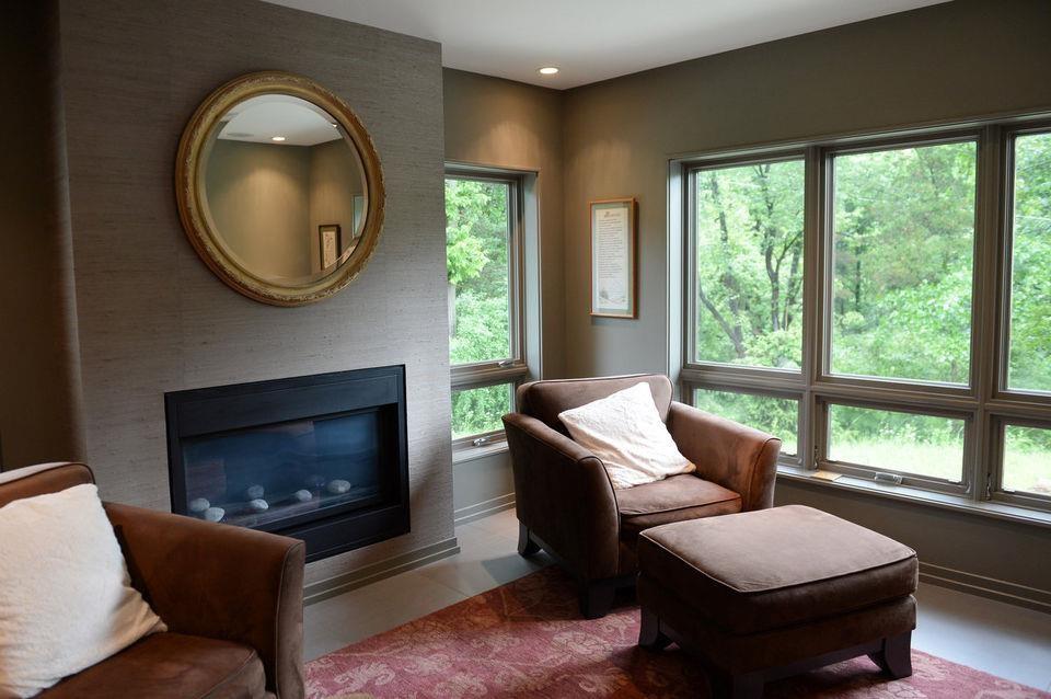Grasscloth Installations: Dining Room, Sitting Room & Bedroom