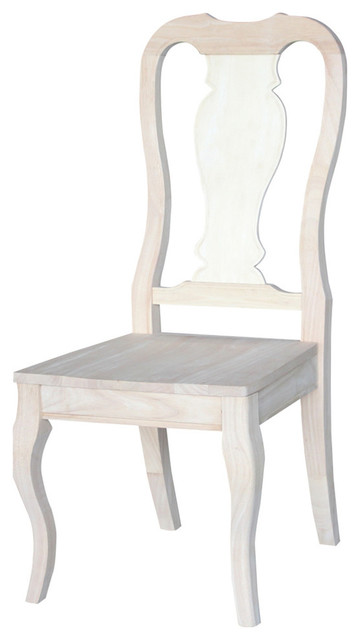 Queen Anne Chairs, Set of 2 by International Concepts