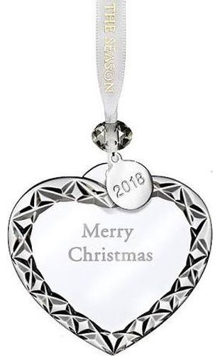 Waterford Crystal Christmas Ornaments.Waterford Crystal 2018 Heart Ornament Merry Christmas 3