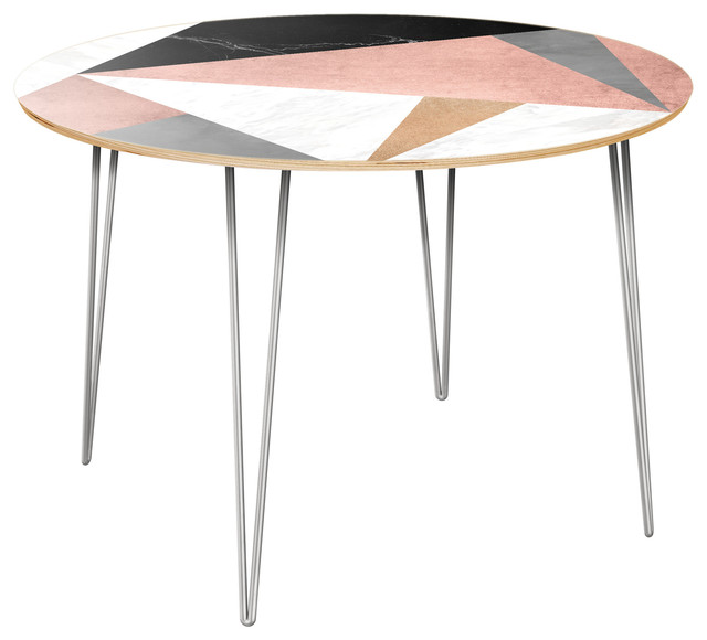 Stella Hairpin Dining Table - Metallic Mashup.