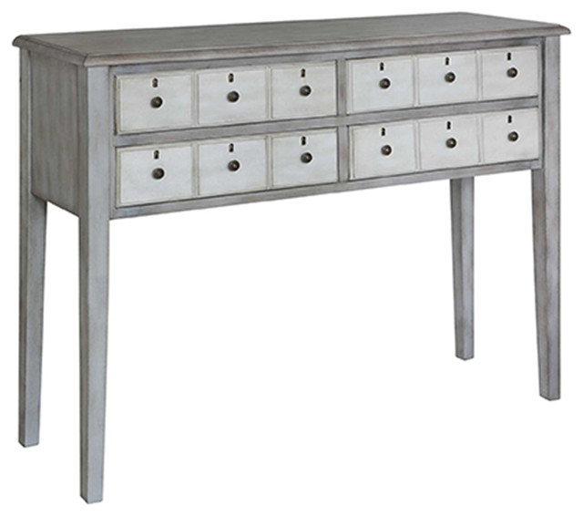 narrow console table white drawer gray farmhouse tables high uk canada