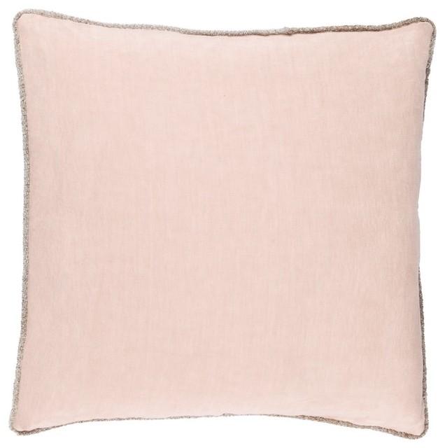 "Sasha By Surya Down Fill Pillow, Blush, 18""x18"", Ah002-1818d."
