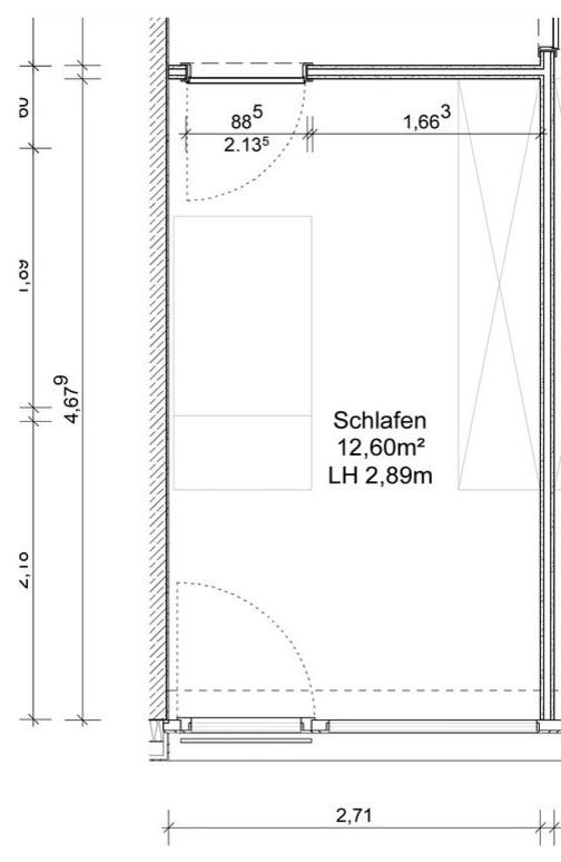 Visualisierung Babyzimmer Grundriss
