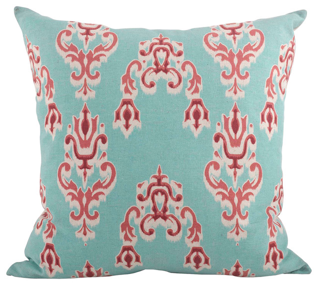 "Ikat Down Decorative Throw Pillow, 20"" Square."