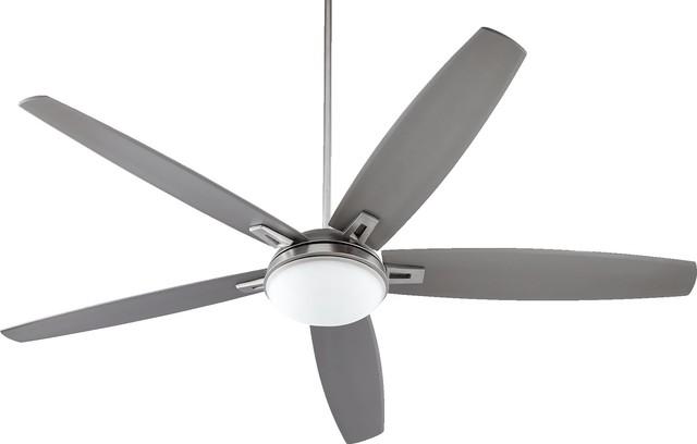 Quorum Vector 72 5 Blade Fan, Satin Nickel.
