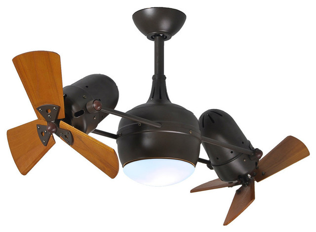 Dagny Rotational Ceiling Fan With Light Kit With Mahogany Tone Blades, Textured.