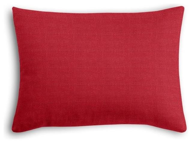 Crimson Red Linen Boudoir Pillow