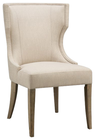 Madison Park Carson Rubberwood Dining Chair, Cream