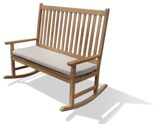 Valencia Highback Double Rocking Chair, Grade A Teak   Traditional    Outdoor Rocking Chairs   By Windsor Teak Furniture