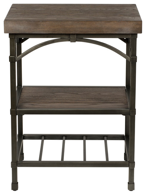 Liberty Furniture Franklin Side Table, Rustic Brown.