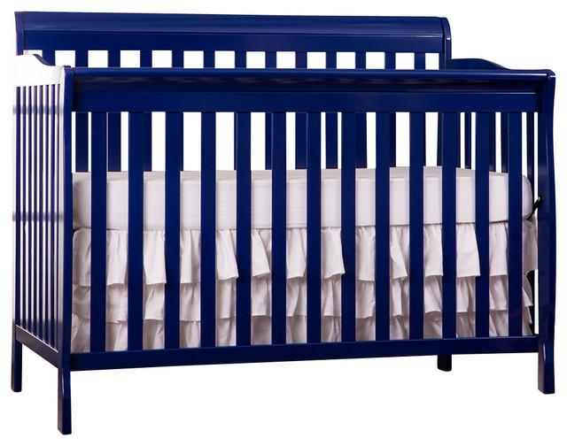 Dream On Me Ashton Convertible 5-In-1 Crib, Royal Blue