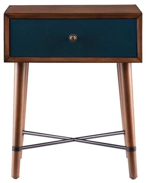 Norwich accent table dusty oak and blue finish for Coffee tables norwich