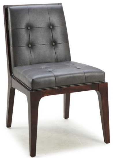 low back tufted chair - transitional - dining chairs -artefac