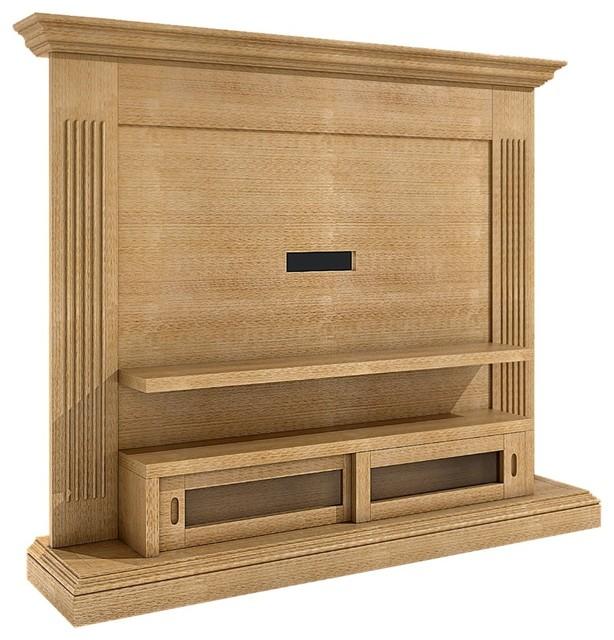 Casamia Duett Solid Pine 2 Door Rolling Plasma Tv Shelving Caramel