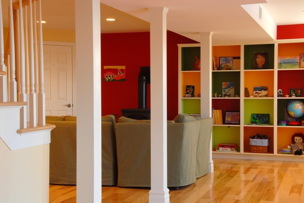 Trendy home design photo in Burlington