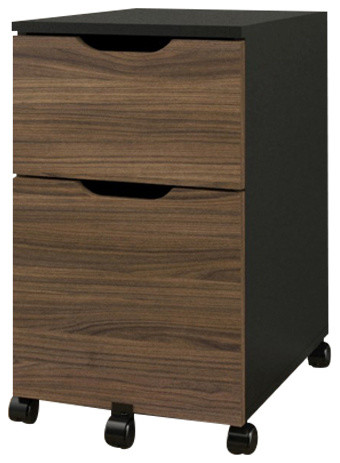 ... Mobile Filing Cabinet, Black and Walnut contemporary-filing-cabinets