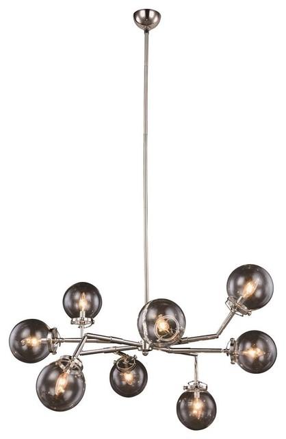 8-Light Contemporary Pendant Lamp.