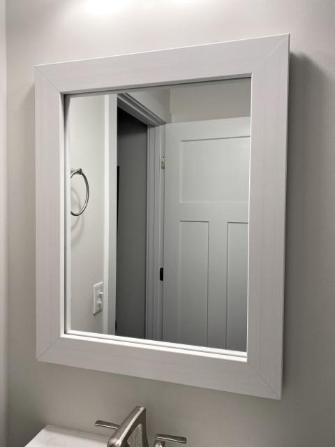 Pendleton Rustic White Framed Mirror Transitional Bathroom Mirrors By Framemymirror Houzz