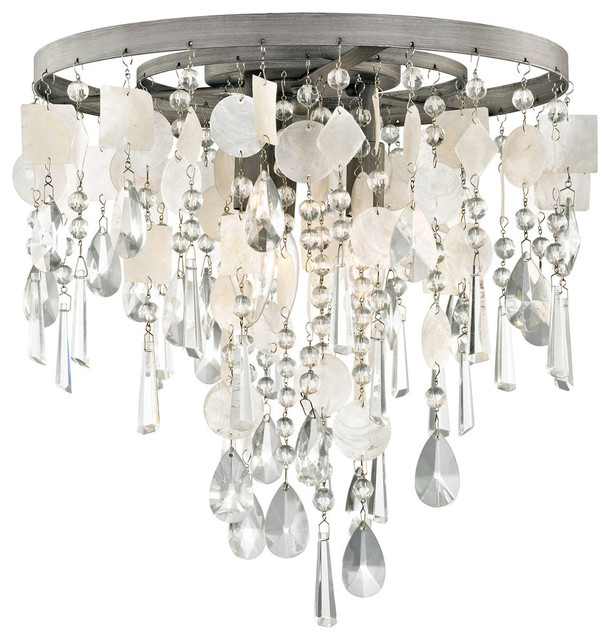Elk Lighting 15931/3 Alexandra 3-Light Semi Flush Light.