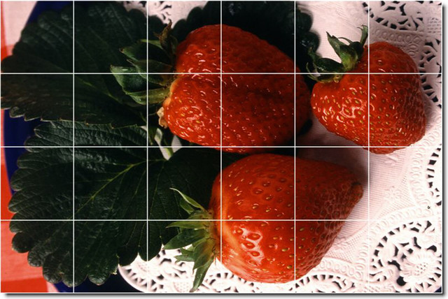 Fruits Vegetables Photo Kitchen Tile Mural 29 Contemporary Tile