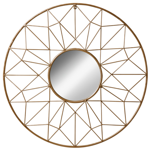 Geometric Wall Mirror kate and laurel renata geometric dimensional metal wall mirror