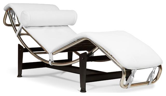 Chaise longue style lc4 le corbusier simili cuir - Meridienne le corbusier ...