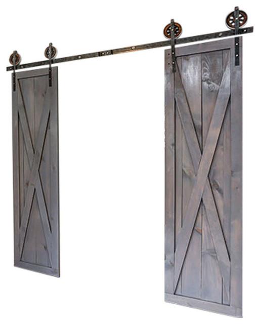 X Design Sliding Barn Door Ebony 42x90 Rustic Interior