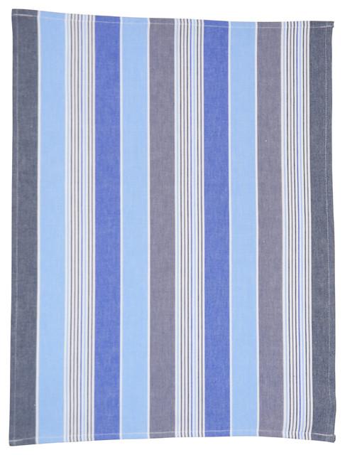 Danish Cotton 100% Eco-Tex Certified Tea Towel, Multi Blue