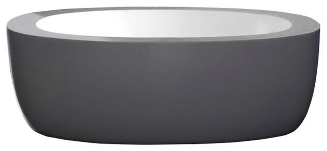 "Anatolio Acrylic Modern Freestanding Soaking Bathtub 69""."