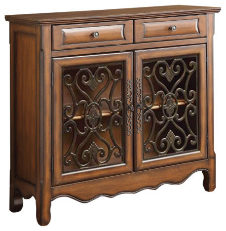 Old-Style Wooden  Accent Cabinet With Storage Drawers, Brown