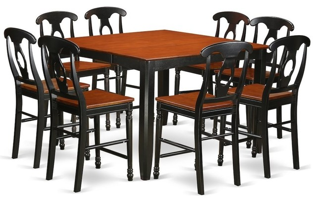 9-Piece Counter Height Pub Set, Pub Table And 8 Dining Chairs