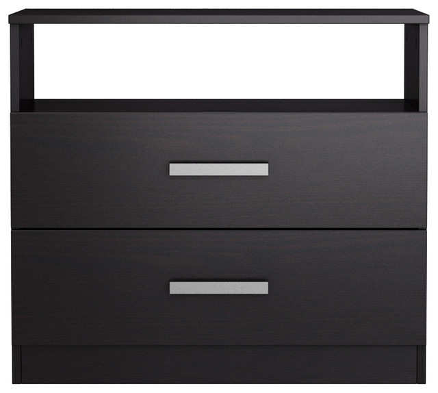 brooklyn 2-drawer nightstand - modern - nightstands and bedside Matching Black Nightstands